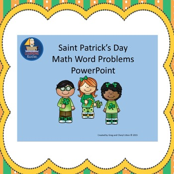 St. Patrick's Day Math Word Problems Grades 1-3 Power Point