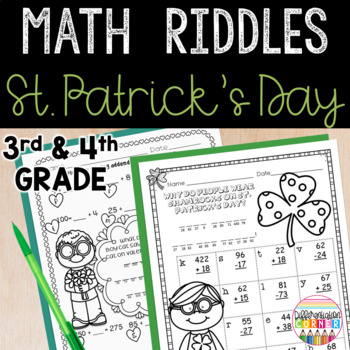 St. Patrick's Day Math Worksheets
