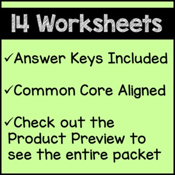 St. Patrick's Day Math Worksheets 4th Grade Common Core