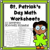 St. Patrick's Day Math Worksheets - Counting, teen numbers, patterns!
