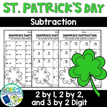 St. Patrick's Day / March Math Worksheets - Differentiated and Editable