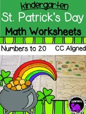 St. Patrick's Day Math Worksheets for Kindergarten