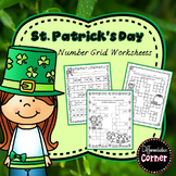St. Patrick's Day Math Worksheets with 120 chart