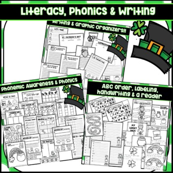 St. Patrick's Day Math Writing KIndergarten