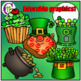 St. Patrick's Day Math and Counting Clip Art BUNDLE 130 clips