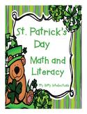 Kindergarten St. Patrick's Day Math and Literacy