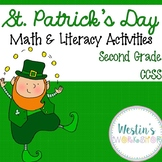 St. Patrick's Day Math and Literacy Activities - Second Grade