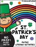 St. Patrick's Day Math and Literacy No Prep