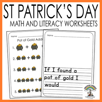 St Patrick's Day Math and Literacy - Worksheets and Activities for Preschool