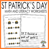 St Patrick's Day Math and Literacy - Worksheets and Activi
