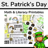 St Patrick's Day Math and Literacy Activity Pack