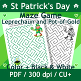 St. Patrick's Day Maze with Leprechaun and Pot of Gold, Commercial Use Allowed