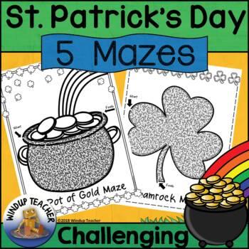 St. Patrick's Day Mazes *Challenging