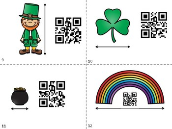 St. Patrick's Day - Measurement to the Nearest Inch - QR Code Hunt