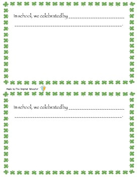 St. Patrick's Day Memory Book