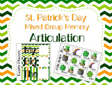 St. Patrick's Day Memory for Mixed Groups Articulation - 2