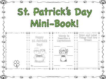 St. Patrick's Day Mini Book!