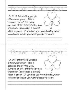 St. Patrick's Day Mini-Book