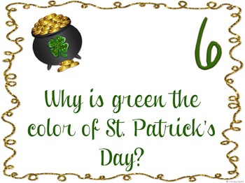 St. Patrick's Day Mini Book & Questions