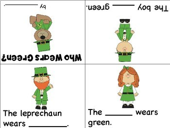 St. Patrick's Day Mini Books - ESL/ENL, Special Needs, Young Learners