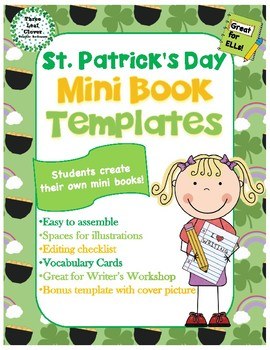 St. Patrick's Day Mini Books Template - with Vocabulary Cards