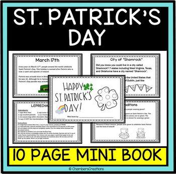 History of St. Patrick's Day-Mini Flip Book