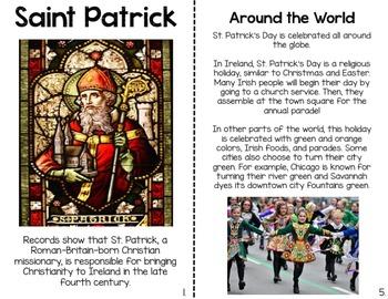 St. Patrick's Day Mini Reader & Reader Response