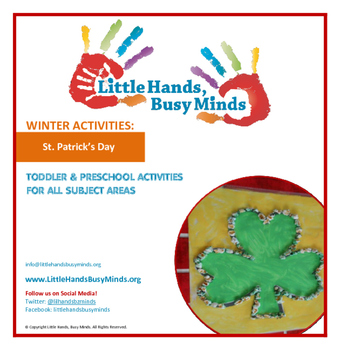 St. Patrick's Day- Mini Thematic Unit for Toddlers/Pre-K