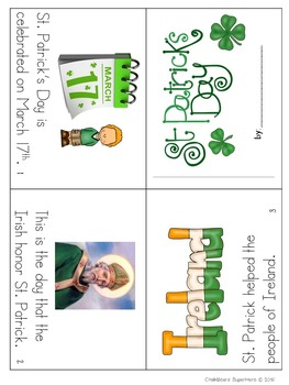 St Patrick's Day: Mini-book reader