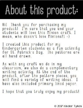 St. Patrick's Day Minion Craft