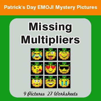 St. Patrick's Day: Missing Multipliers - Color-By-Number Mystery Pictures