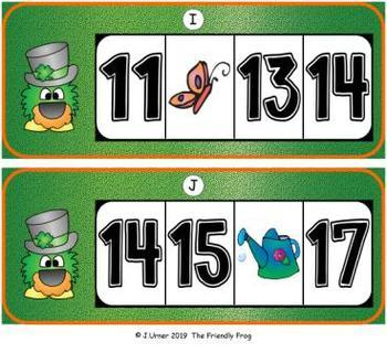 St. Patrick's Day Missing Numbers 0-20