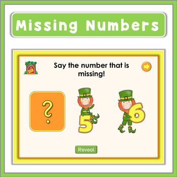 St. Patrick's Day -  Missing Numbers (1-10)