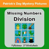 St. Patrick's Day: Missing Numbers Division - Color-By-Num