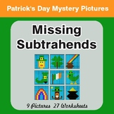 St. Patrick's Day: Missing Subtrahends - Color-By-Number M