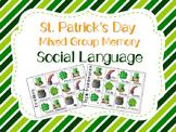 St.Patrick's Day Mixed Group Memory - Social Language 20%