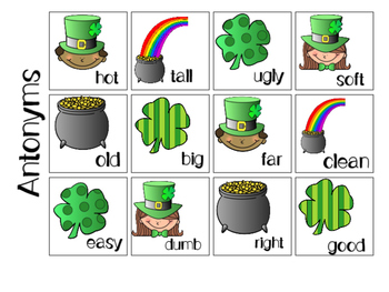 St. Patrick's Day Mixed Group Memory - Vocabulary 20% off for 48 hours!