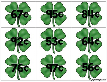 St. Patrick's Day Math (Money Game)