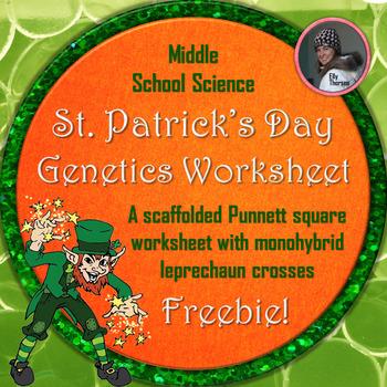 St Patrick S Day Monohybrid Crosses Punnett Square Worksheet FREEBIE