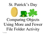 St. Patrick's Day More/Fewer Compare Small Group Activity