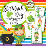 St Patrick's Day Movement Cards