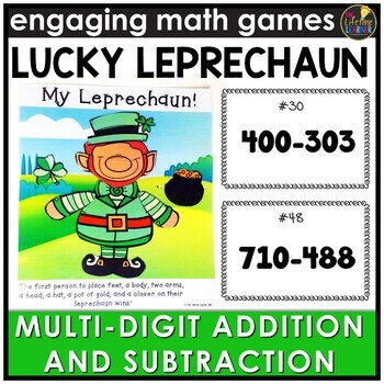 Saint Patrick's Day Multi-Digit Addition and Subtraction  Game
