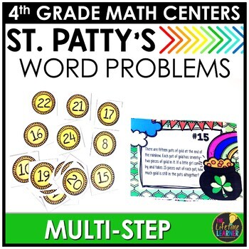 St. Patrick's Day Multi-Step Word Problems Game