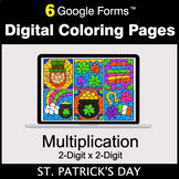 St. Patrick's Day: Multiplication 2-Digit by 2-Digit - Dig