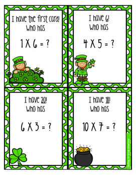 St. Patrick's Day Multiplication Activities!
