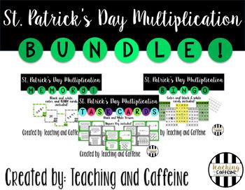 St. Patrick's Day Multiplication BUNDLE