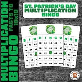 St. Patrick's Day Multiplication Bingo Math Facts Within 100