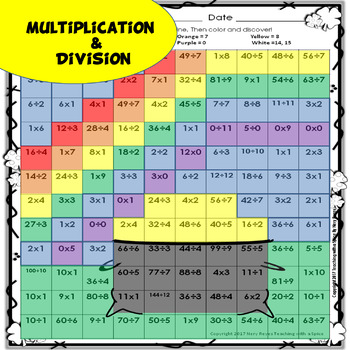 St Patrick's Day Math Multiplication & Division