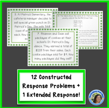 St. Patrick's Day Multiplication/Division Word Problems