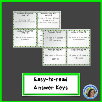 St. Patrick's Day Math Activities: Multiplication & Division Word Problems